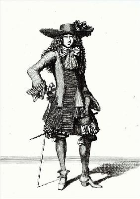 The Summer Sword Dress, 1675 (b/w print)