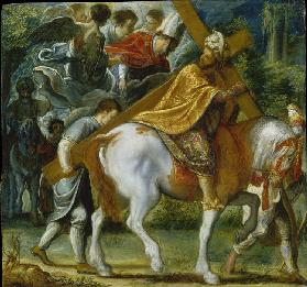 The Frankfurt Altarpiece of the Exaltation of the True Cross: Heraclius on Horseback with the Cross