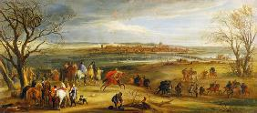 View of the Siege of Dole, 14th February 1668