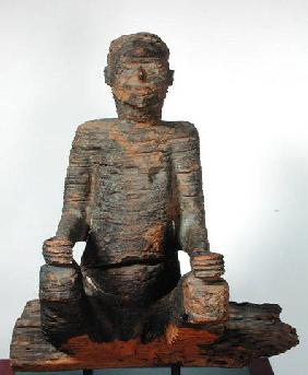 Statue of a seated man, Mbembe, Nigeria