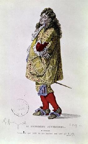 Follow me, that I might a little show my dress about the town'', illustration of Monsieur Jourdain f