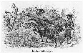 British tourists, illustration from ''Voyage aux Pyrenees'' Hippolyte Taine (1828-93) ; engraved by