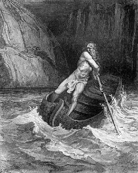 Charon, the Ferryman of Hell, from The Divine Comedy (Inferno) Dante Alighieri (1265-1321) ; engrave