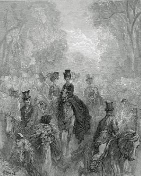 The Ladies'' Mile, from ''London, a Pilgrimage'', written by William Blanchard Jerrold (1826-84); en
