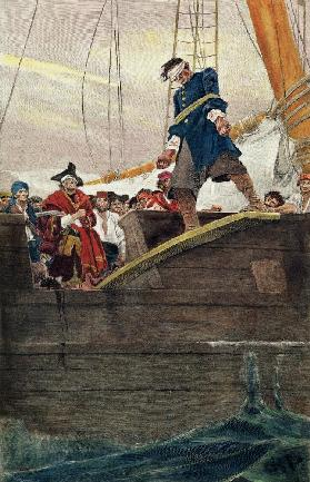 Walking the Plank; engraved by Anderson