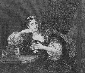 Sigismonda with the Heart of her Husband; engraved by T.W. Shaw, from ''The Works of Hogarth'', publ