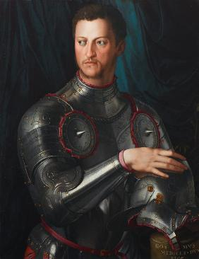 Portrait of Grand Duke of Tuscany Cosimo I de' Medici (1519-1574) in armour