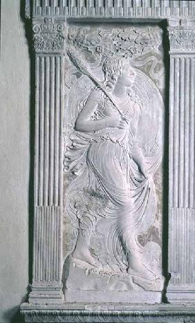 Virgo represented by Ceres from a series of reliefs depicting the planetary symbols and signs of the