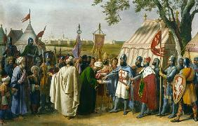 Count of Tripoli accepting the Surrender of the city of Tyre in 1124
