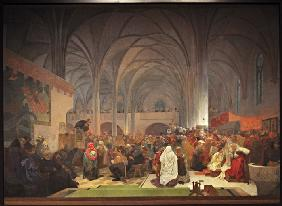 Master Jan Hus Preaching at the Bethlehem Chapel (The cycle The Slav Epic)