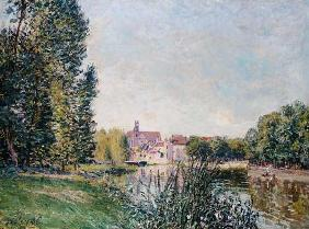 The Loing Canal and the Church at Moret