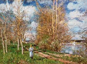 Alfred Sisley, The little Meadow  1880
