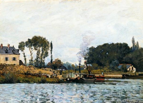 A.Sisley, Schiffe an Schleuse Bougival