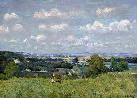 The Valley of the Seine at Saint-Cloud, 1875 (oil on canvas)