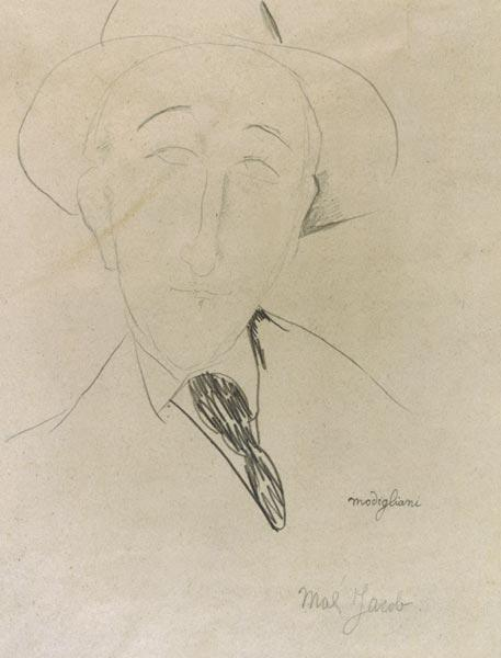 A.Modigliani, Portrait de Max Jacob,1915