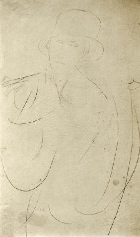Modigliani / Woman with Hat / Drawing