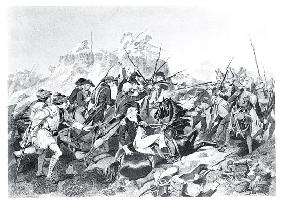 Battle of Saratoga - General Arnold Wounded in the Attack on the Hessian Redoubt, 17th October 1777