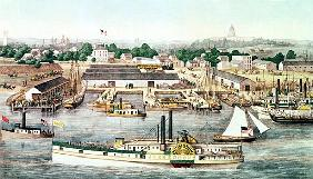 Bird''s Eye View of Sixth Street Wharf, Washington D.C, published by  Charles Magnus