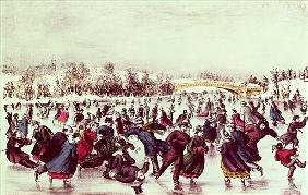 Central Park, Winter: The Skating Carnival