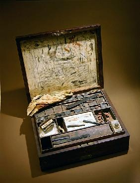 Paintbox of John James Audubon (1785-1851)