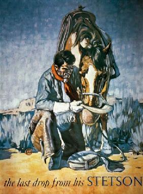 The Last Drop from his Stetson (colour litho)