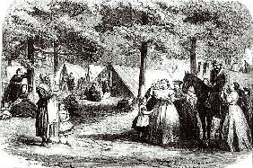 Southern refugees encamping in the woods near Vicksburg