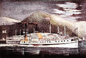 Steamer Drew, published Nathaniel Currier (1813-88) and James Merritt Ives (1824-95)