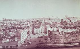 View of Utica City, New York State; engraved by D.W. Moody, pub.F. Michelin, c.1850