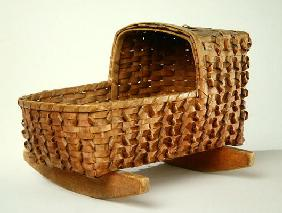 Doll Cradle, c.1900 (wood)