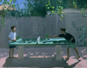 Table Tennis, France, 1996 (oil on canvas)