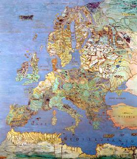 Map of Sixteenth Century Europe, from the ''Sala del Mappamondo (Hall of the World Maps) c.1574-75
