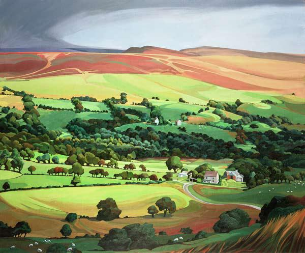 Welsh Valley (oil on canvas)