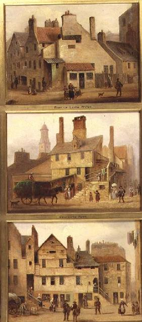 Edinburgh: Nine Views of the Old Town, Foot of Leith Wynd, Cowgate Port, Foot of Candle Maker Row