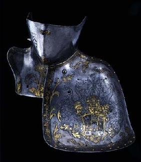 Shoulder and neck piece of a suit of armour, 1560