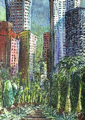 High Rise, Hong Kong, 1997 (oil on canvas)