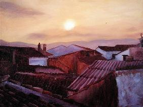 Rooftops, 2002 (oil on canvas)