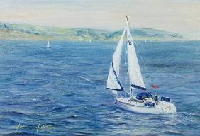 Sailing Home, 1999 (oil on canvas)