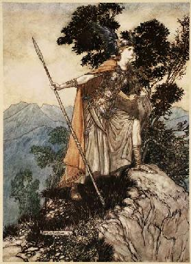 "Brunhilde. Illustration for ""The Rhinegold and The Valkyrie"" by Richard Wagner"