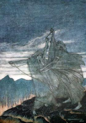 "The Norns Vanish. Illustration for ""Siegfried and The Twilight of the Gods"" by Richard Wagner"
