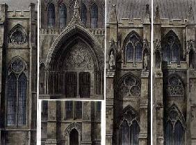 Fragments, Windows and Doors, plate 13 from 'Westminster Abbey', engraved by Thomas Sutherland