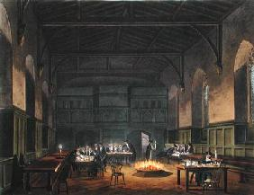 Hall of Westminster School, from Ackermann's 'History of Westminster School', part of 'History of th