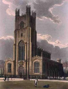 St. Mary's Church, Cambridge, from 'The History of Cambridge', engraved by Daniel Havell (1785-1826)