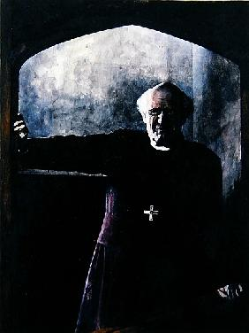 Portrait of Archbishop Michael Ramsay, illustration for the Readers Digest