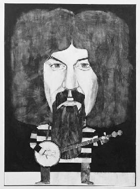 Portrait of Billy Connolly, illustration for The Listener, 1970s