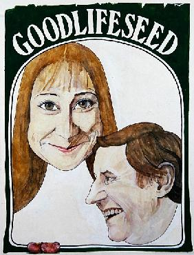 Portrait of characters from The Good Life, illustration for The Radio Times, 1970s