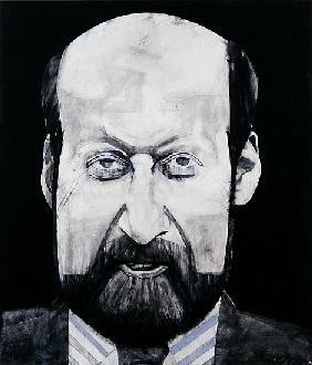 Portrait of Clement Freud, illustration for The Media Mob