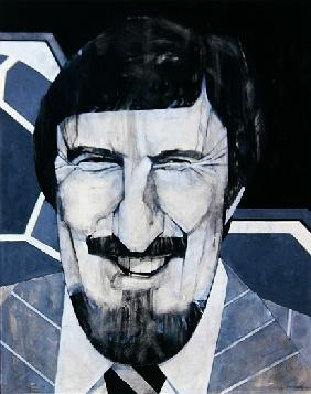 Portrait of Jimmy Hill, illustration for The Listener, 1970s