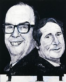 Portrait of Morecambe and Wise, illustration for The Listener, 1970s