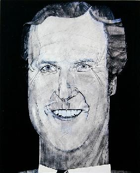 Portrait of Nicholas Parsons, illustration for The Media Mob