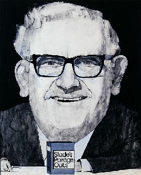 Portrait of Ronnie Barker, illustration for The Listener, 1970s